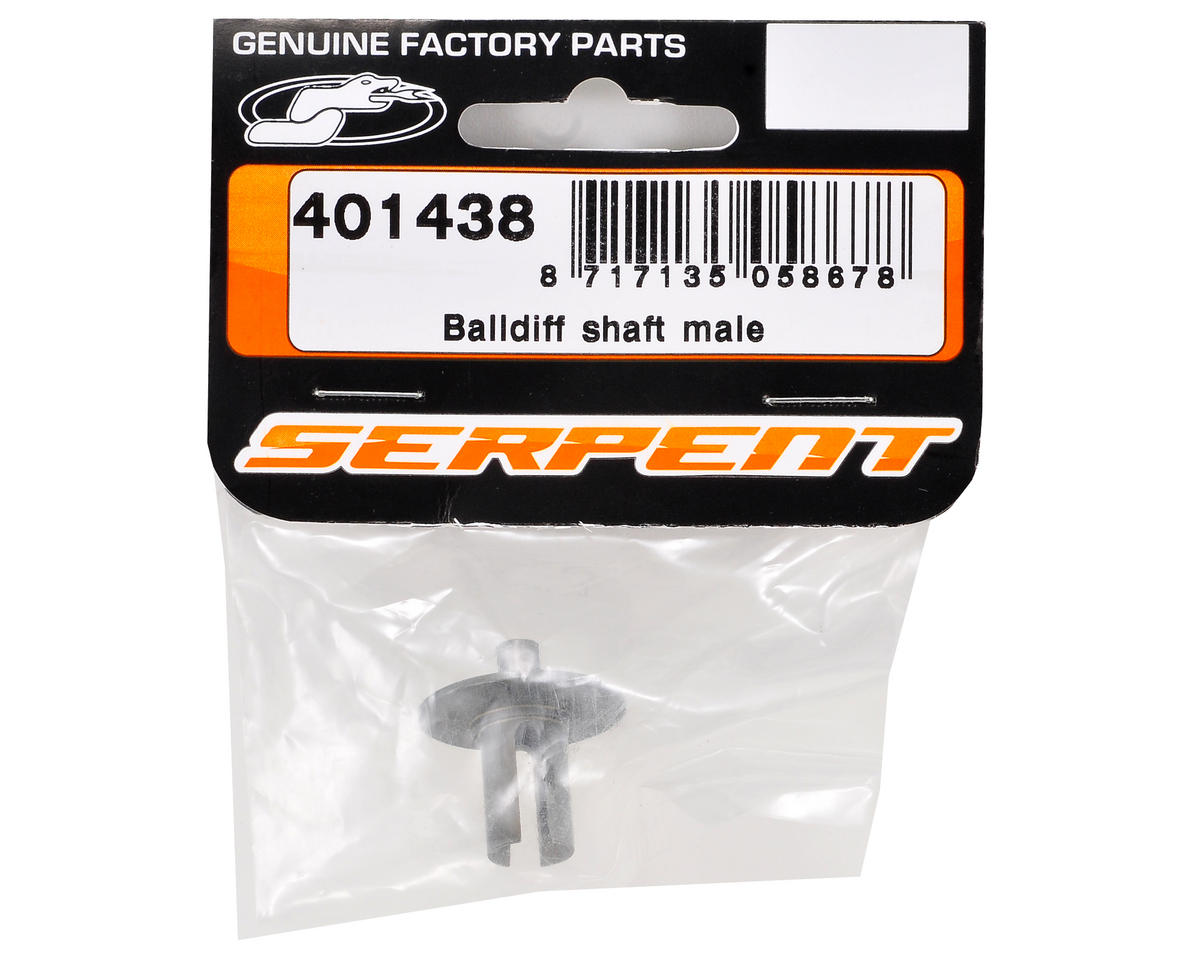 Serpent Male Ball Differential Shaft