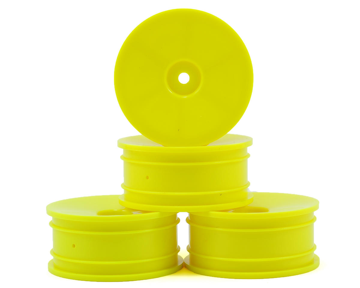 Serpent 1/10 EP Touring Car Wheels (4) (Yellow)