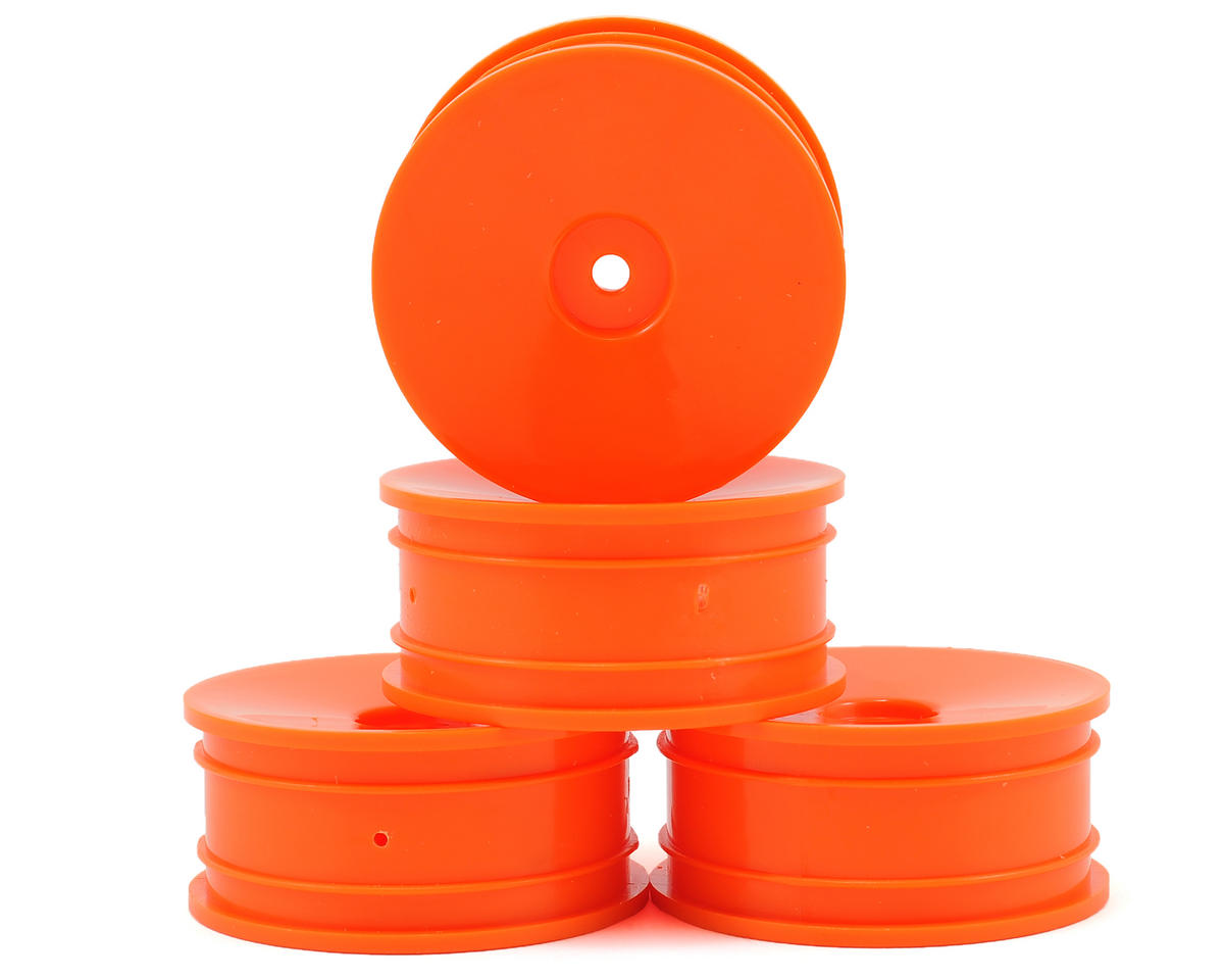 Serpent 12mm Hex 1/10 EP Touring Car Wheels (4) (Orange)