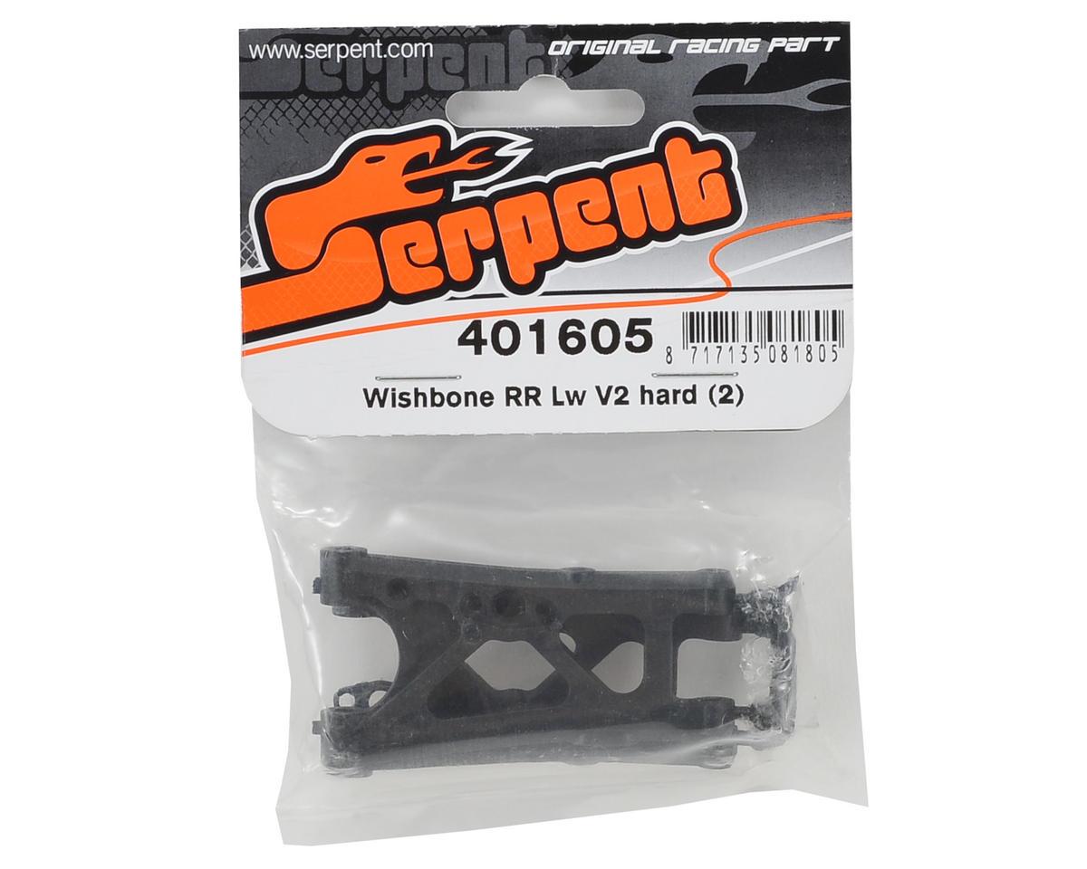 Serpent V2 Rear Lower A-Arm Set (2) (Hard)