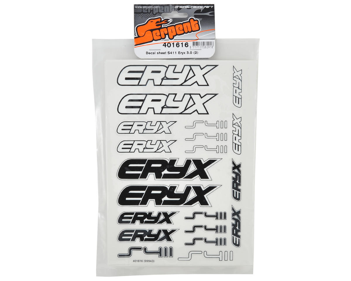 Serpent S411 Eryx 3.0 Decal Sheet (2)