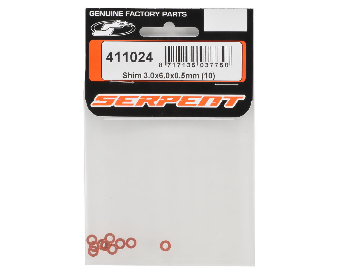 Serpent Aluminum 3x6x0.5mm Shim Set (10)