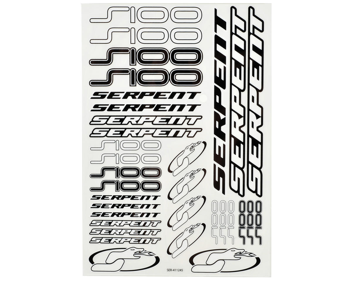 Serpent S100 Decal Sheet (2)