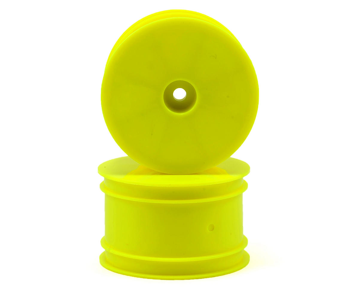 12mm Hex 1/10 Rear Buggy Wheels (2) (SRX-2/SRX-4) (Yellow) by Serpent