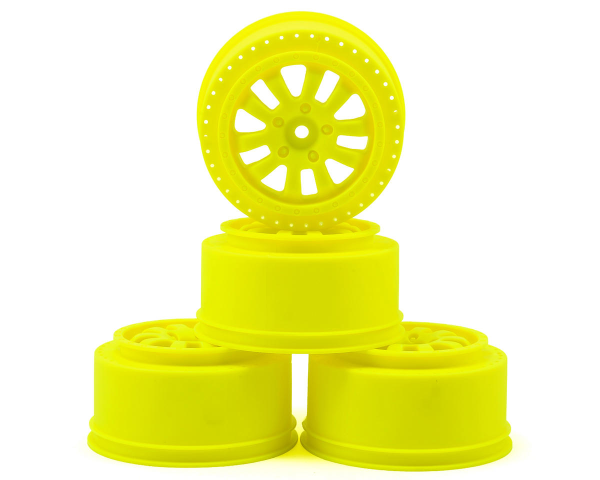 Serpent 12mm Hex Short Course Wheels (Yellow) (4) (SRX-2 SC)
