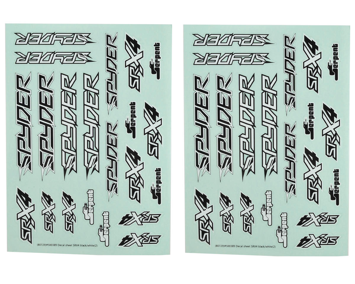 Serpent SRX4 Decal Sheet (2)