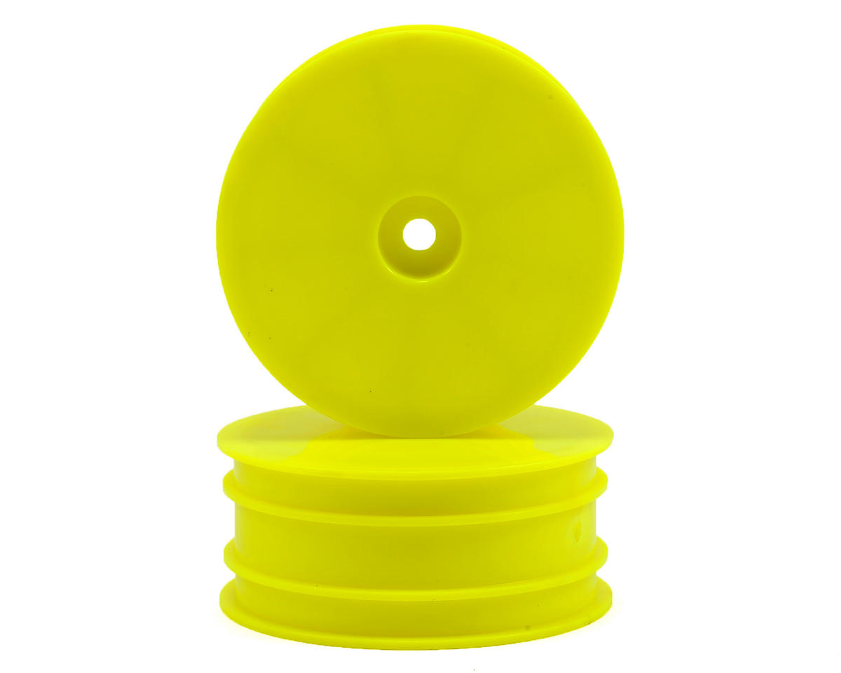 12mm 4WD Front Wheels (2) (Yellow) (SRX-4) by Serpent