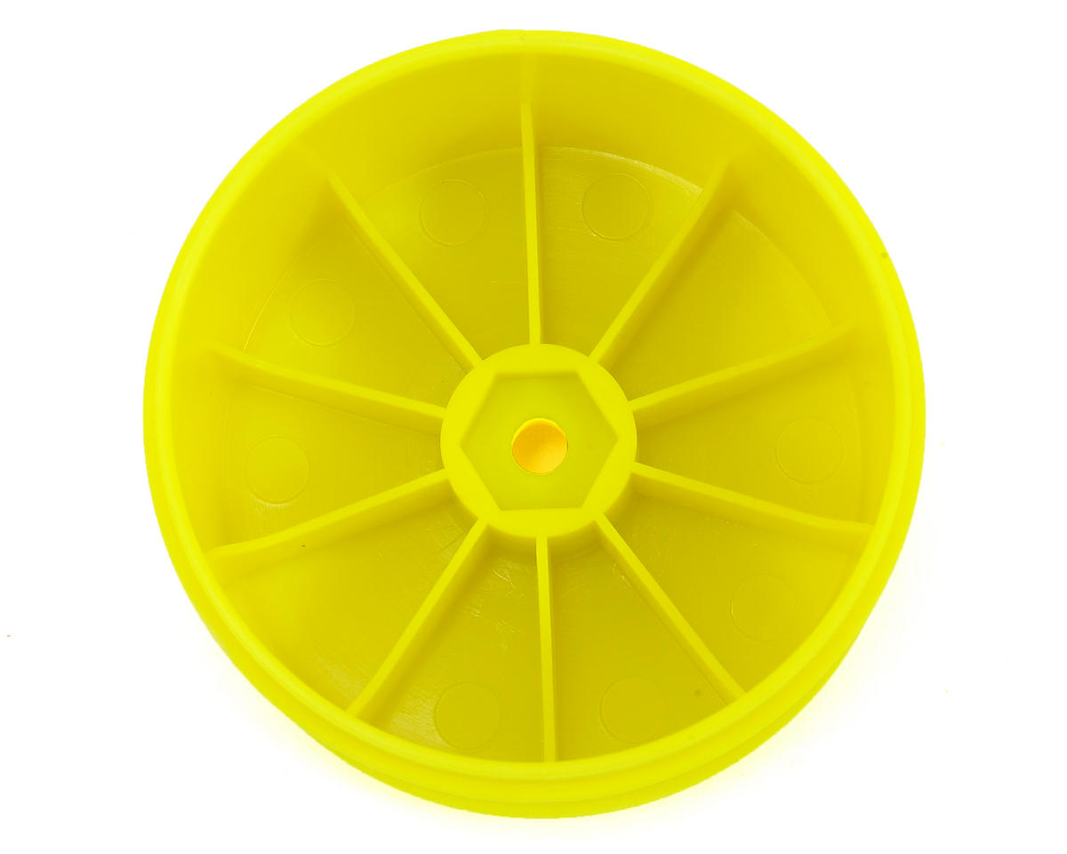 Serpent 12mm Hex 61mm 1/10 Rear Buggy Wheels (2) (SRX-2/SRX-4) (Yellow)