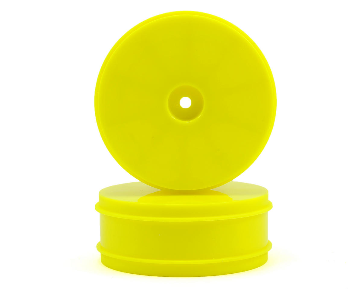 Serpent 12mm Hex 61mm 1/10 2WD Front Buggy Wheels (2) (SRX-2) (Yellow)