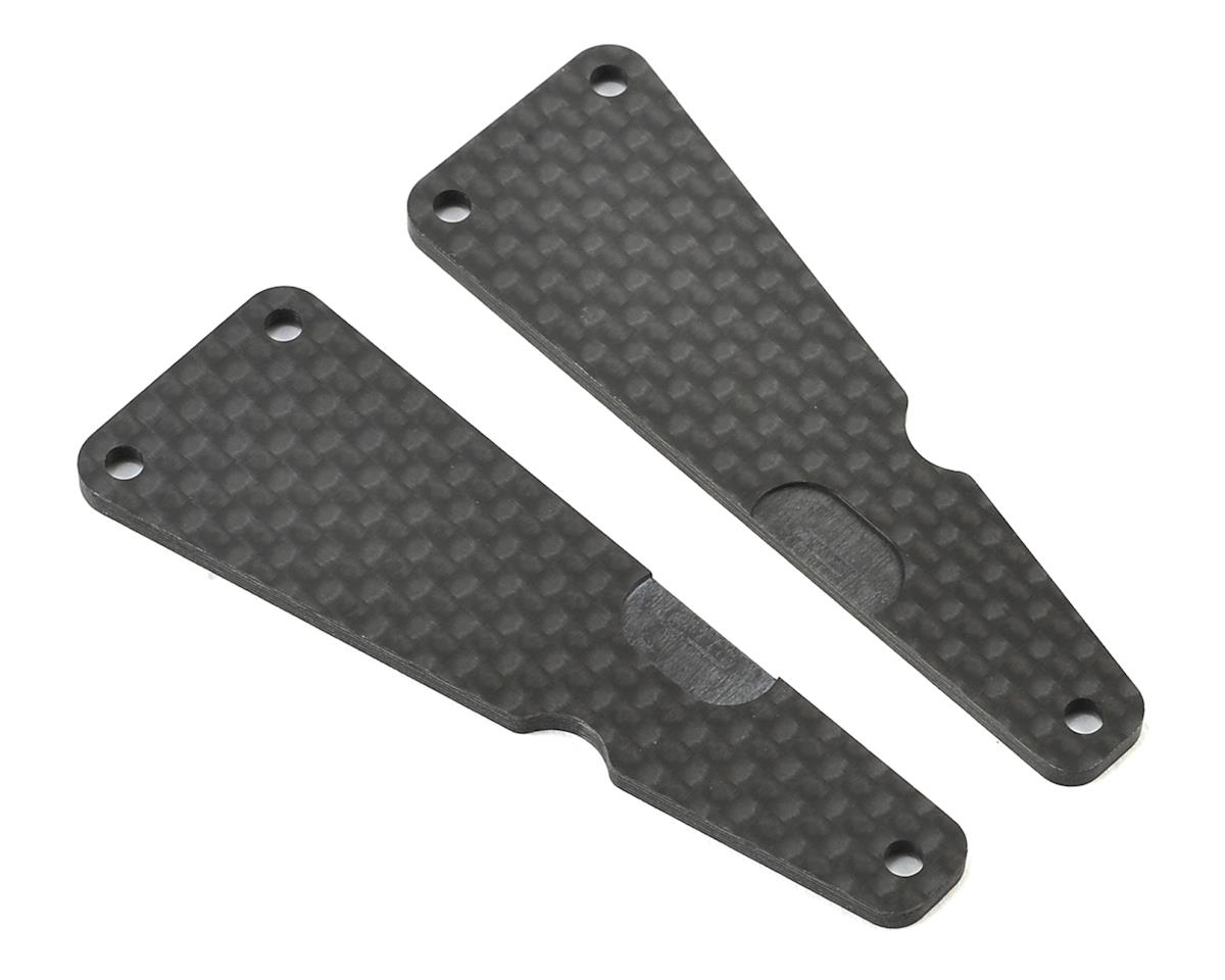 Carbon SDX4 Front Upper A-Arm Insert (2) by Serpent