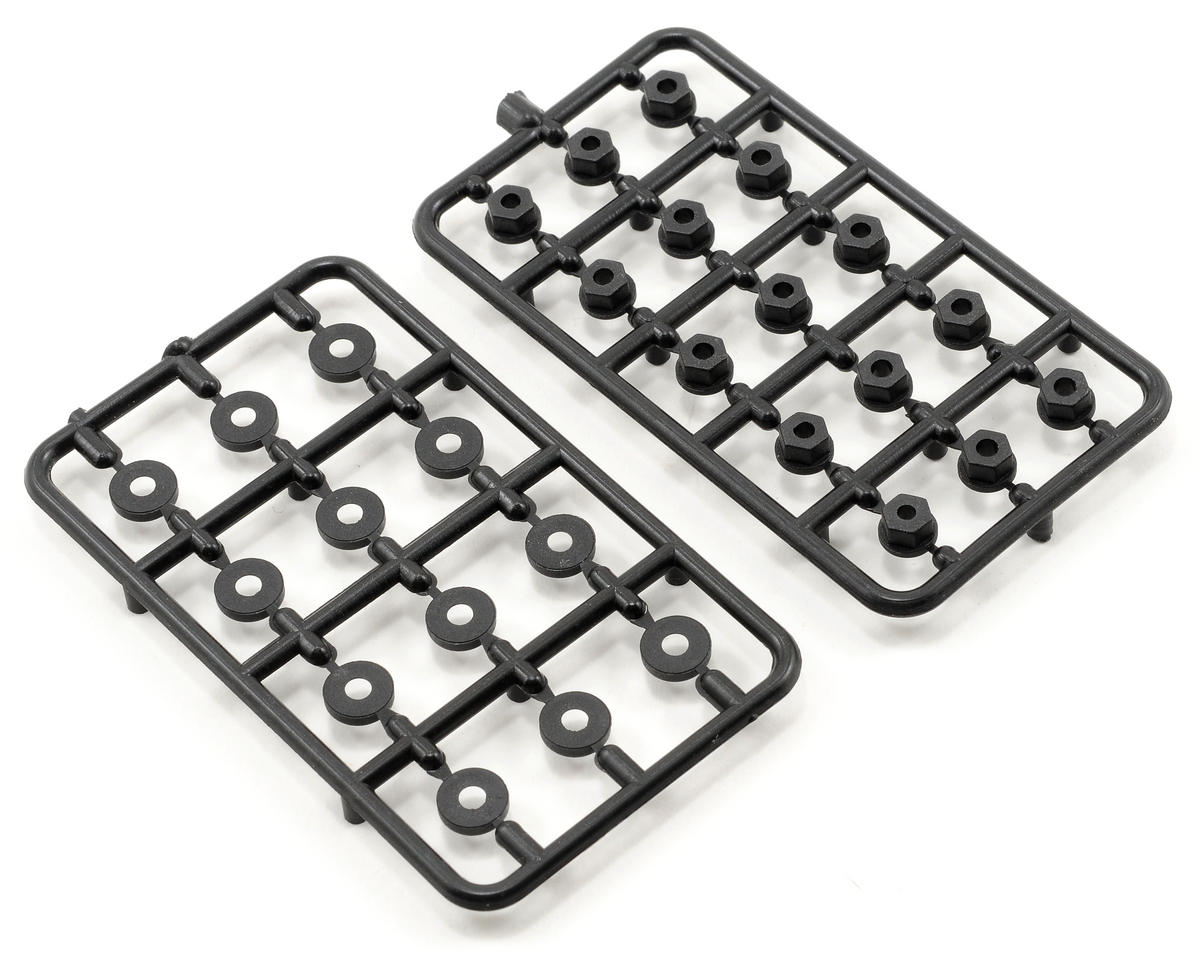 Serpent 3mm Nylon Washer/Nut Set