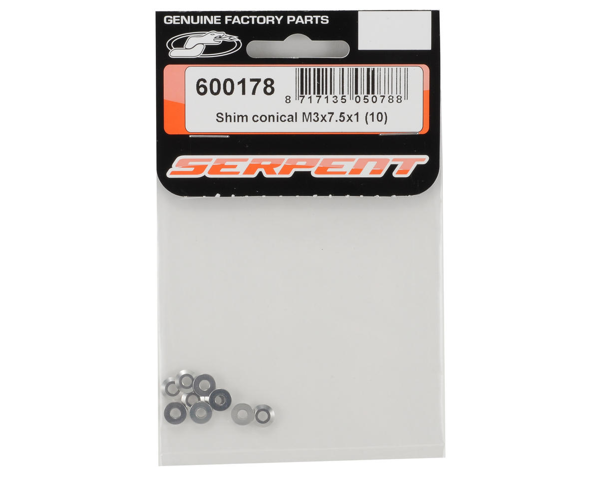 Serpent 3x7.5x1mm Conical Shim Set (10)