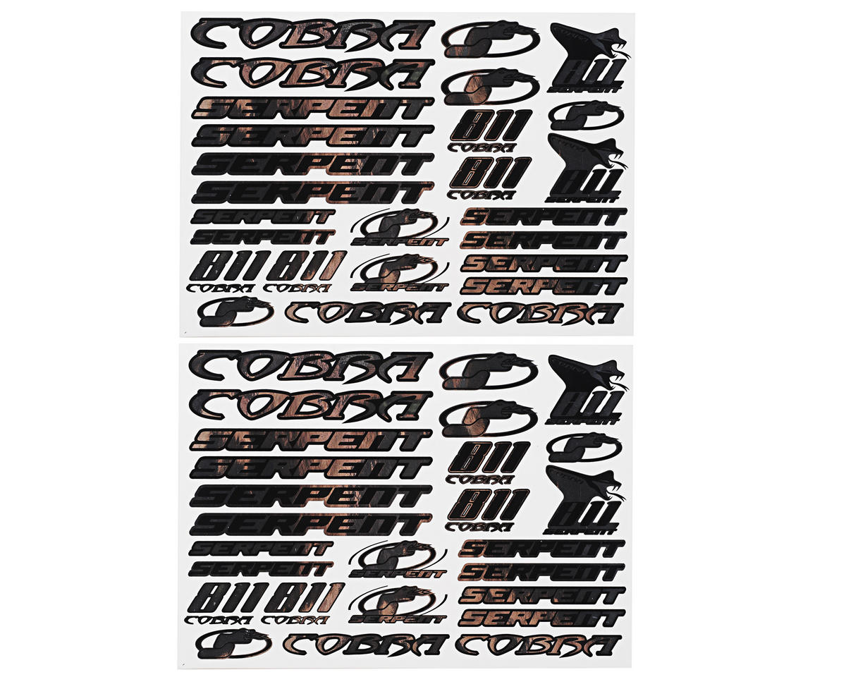 Serpent S811 Cobra Decal Sheet (Chrome) (2)