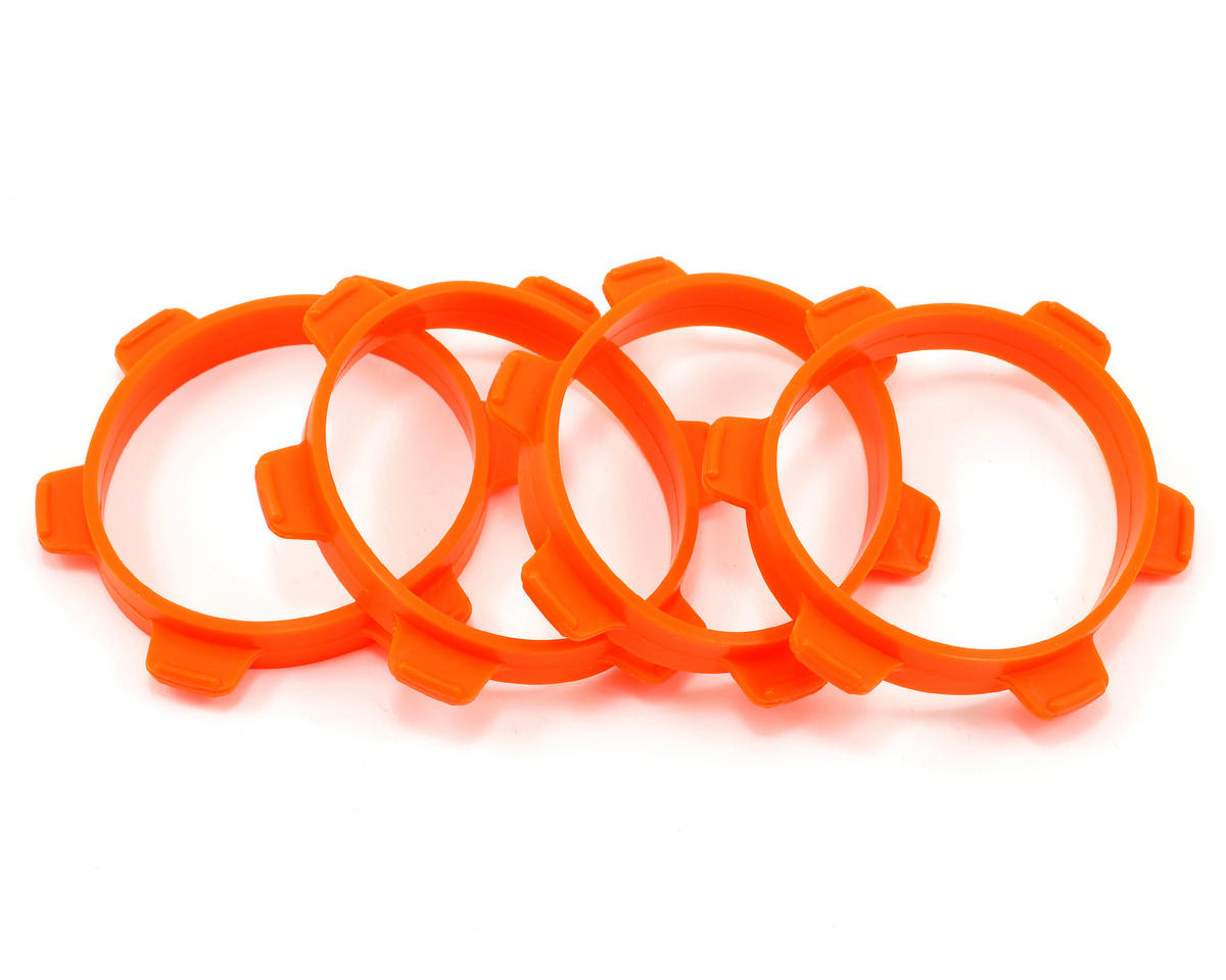 Serpent 1/8 Buggy Tire Mounting Bands (Orange) (4)
