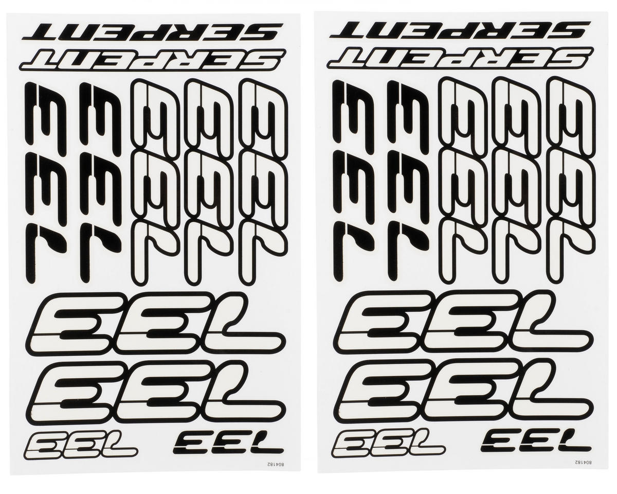 Serpent 733 Decal Sheet (Black/White) (2)
