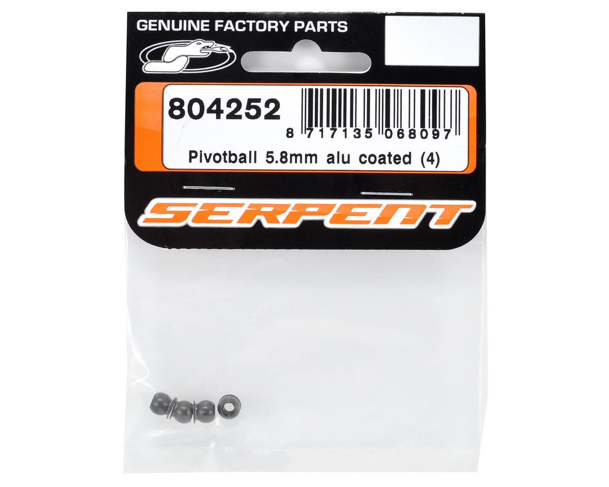 Serpent 5.8mm Aluminum Coated Pivot Ball Set (4)