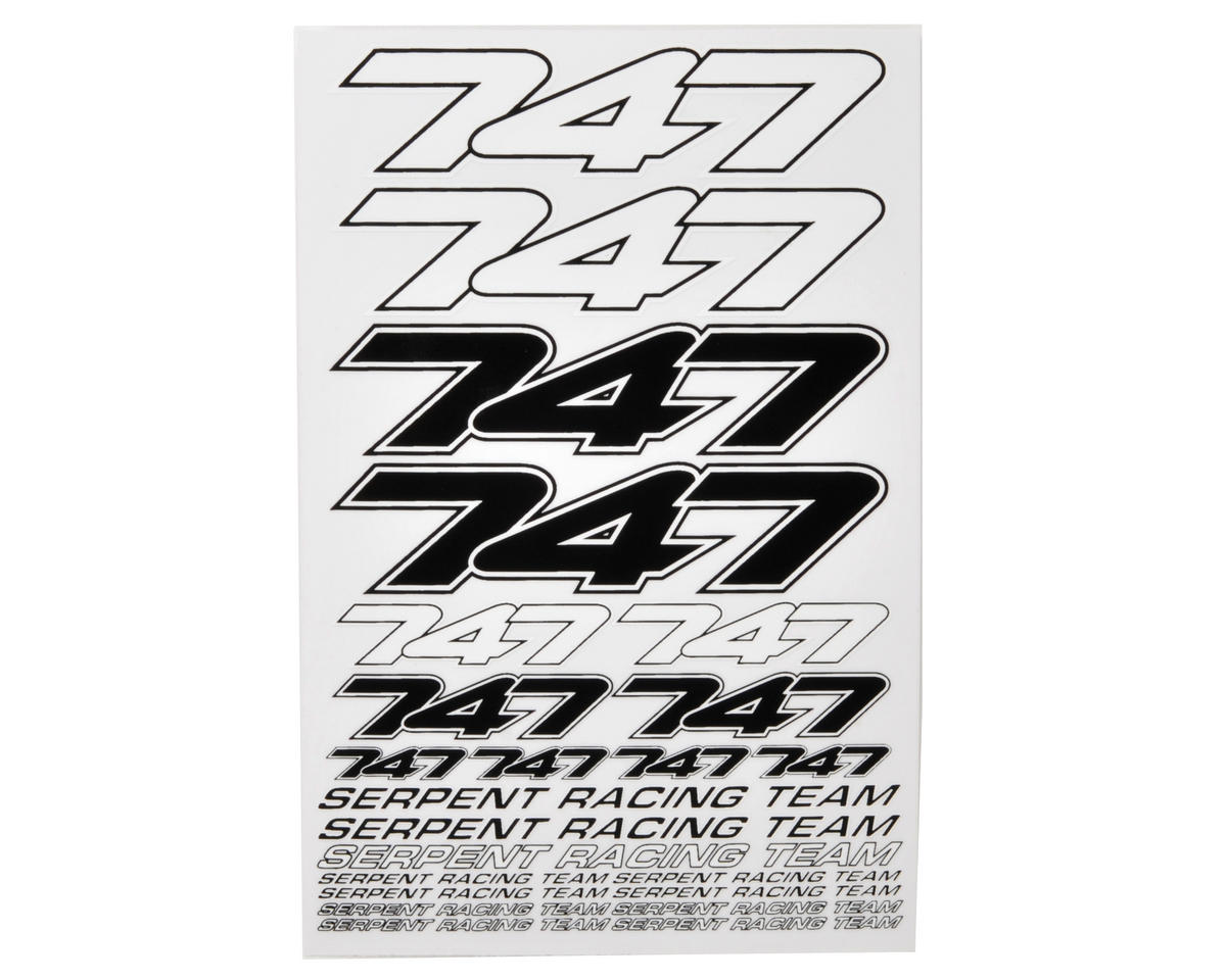 Serpent Decal Sheet (Black/White) (2)