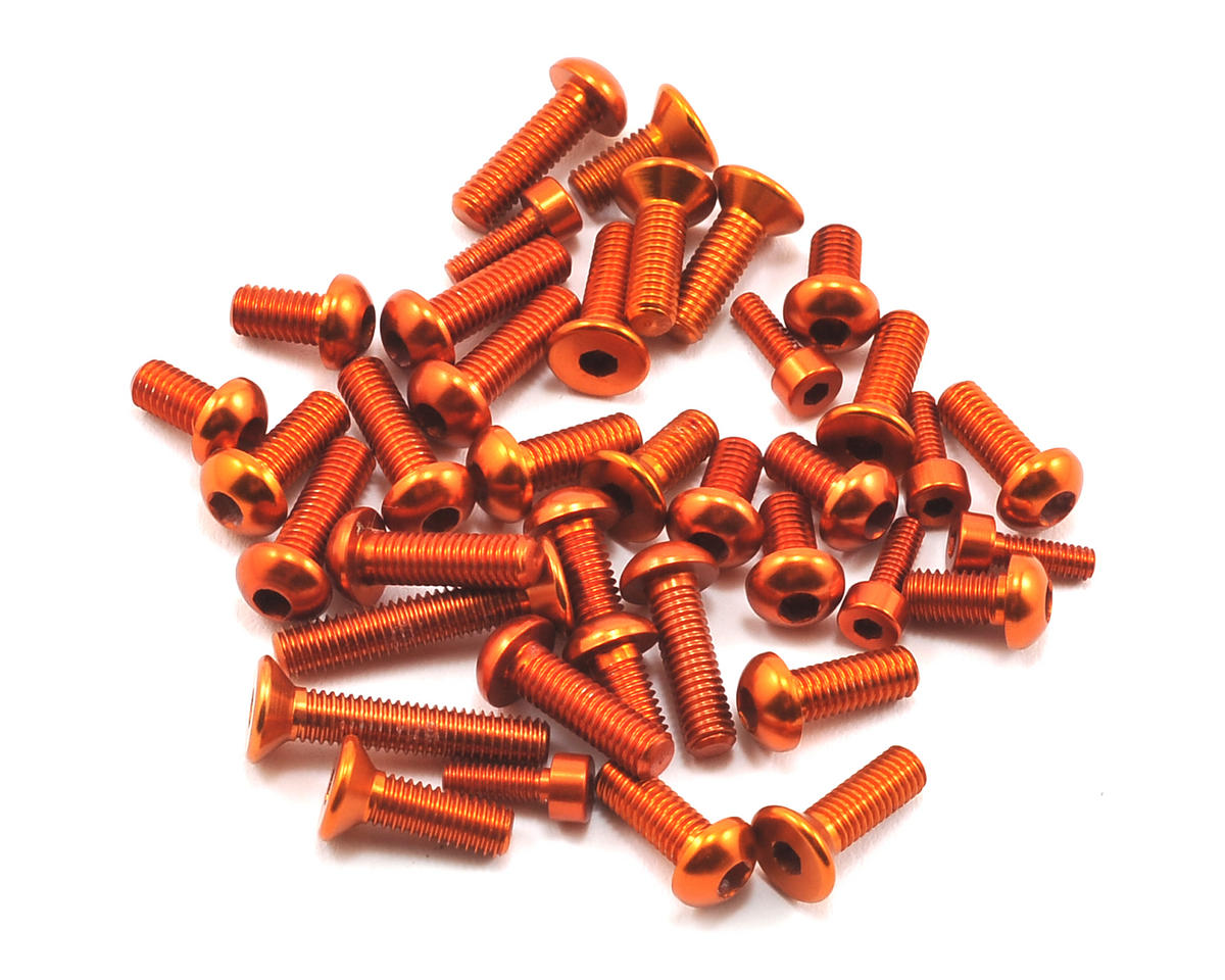 Serpent 748 Top/Side Aluminum Screw Set (Orange) (38)