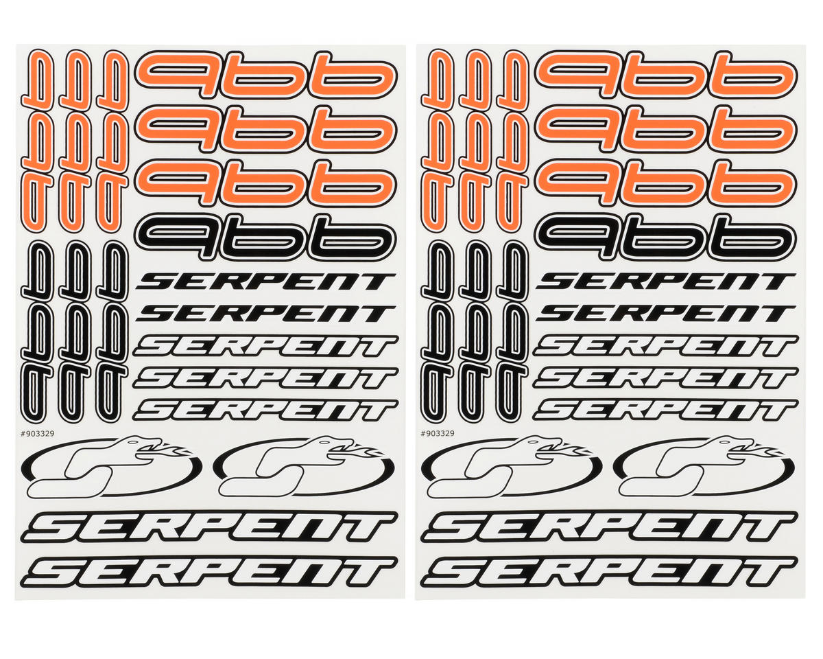 Serpent 966 Decal Sheet (2)