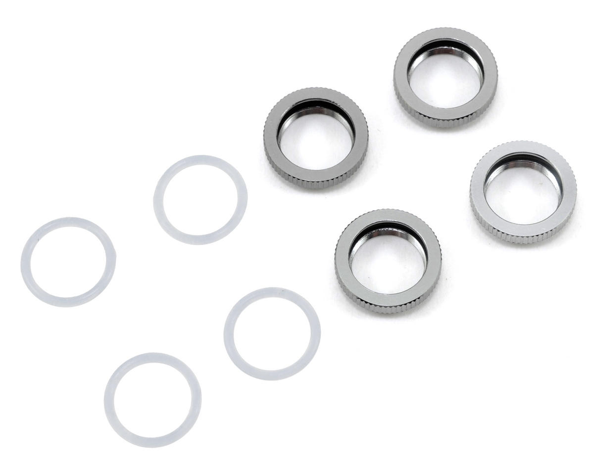 Serpent Aluminum Shock Adjuster Nut & O-Ring Set (4)