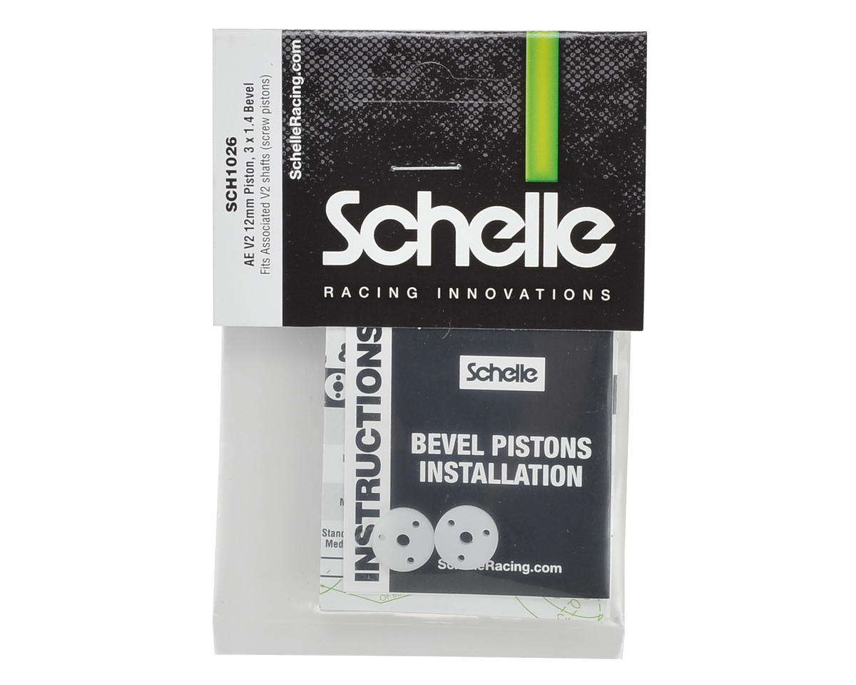 Schelle Racing 12mm Big Bore V2 Bevel Screw Mount Shock Piston (2) (3x1.4mm)