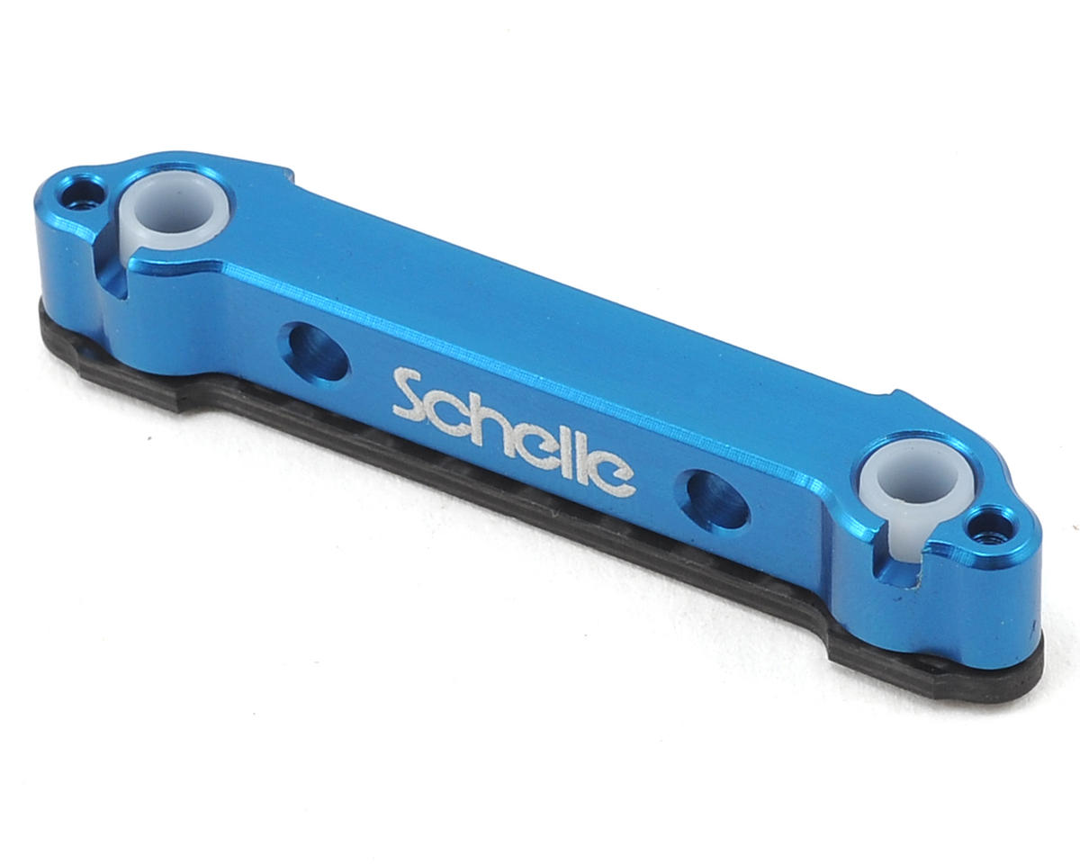 "Schelle Racing B5M Aluminum ""D"" Arm Mount (Blue)"