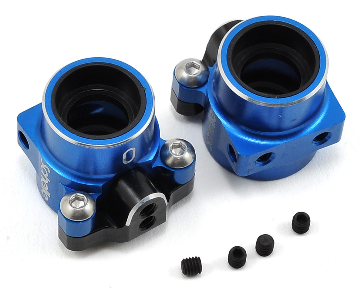 Schelle Racing B5/B5M Aluminum Rear Hub Set (Blue)