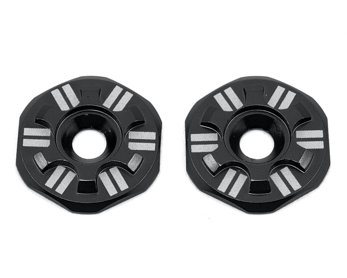 Schelle Racing Asterisk Wing Buttons (Black) (XRAY XB808)