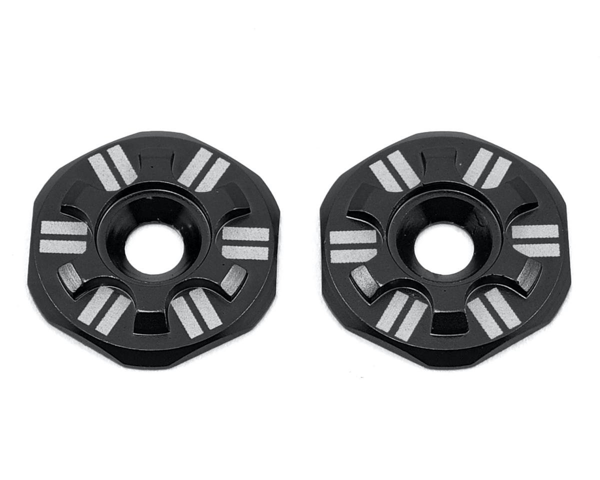 Schelle Racing Asterisk Wing Buttons (Black) (Team Durango DNX408 V2)