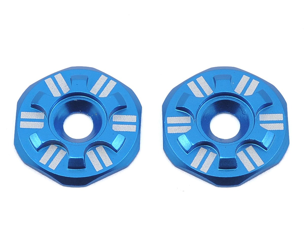 Schelle Racing Asterisk Wing Buttons (Blue) (Team Associated RC8.2)