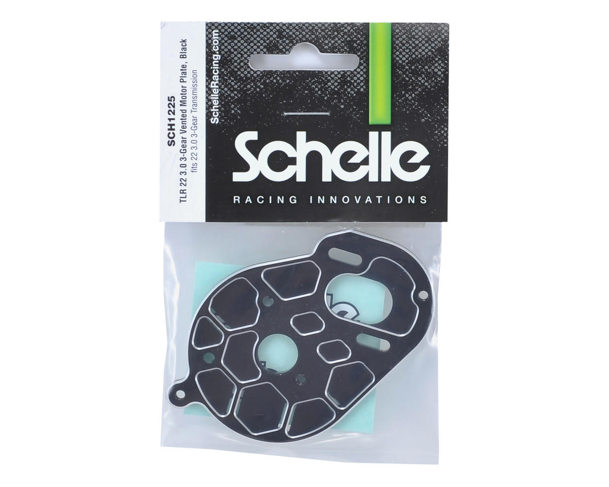 "Schelle Racing TLR 22 3.0 ""3 Gear"" Vented Motor Plate (Black)"