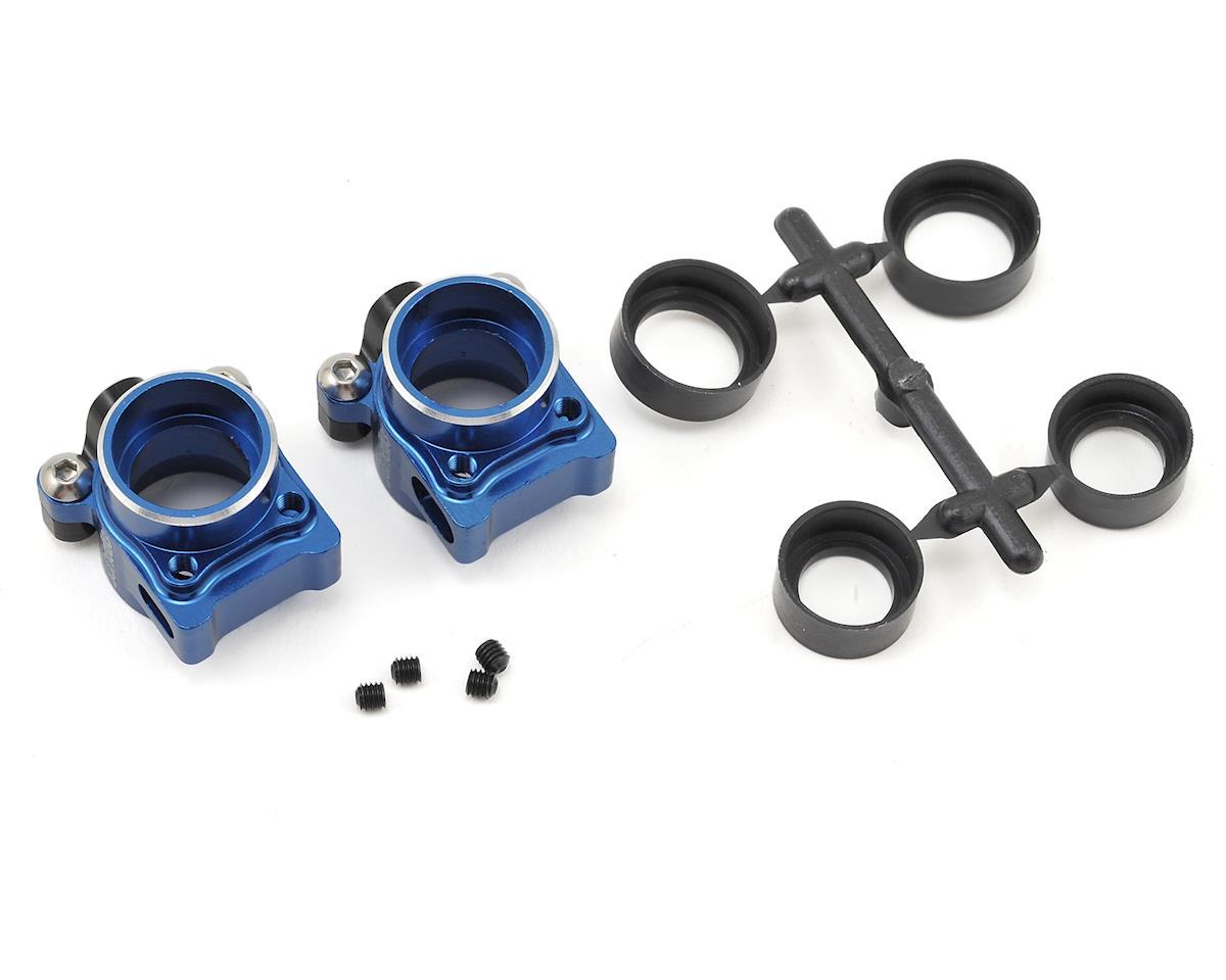 B6/B6D Aluminum Rear Hub Set (Blue) by Schelle Racing
