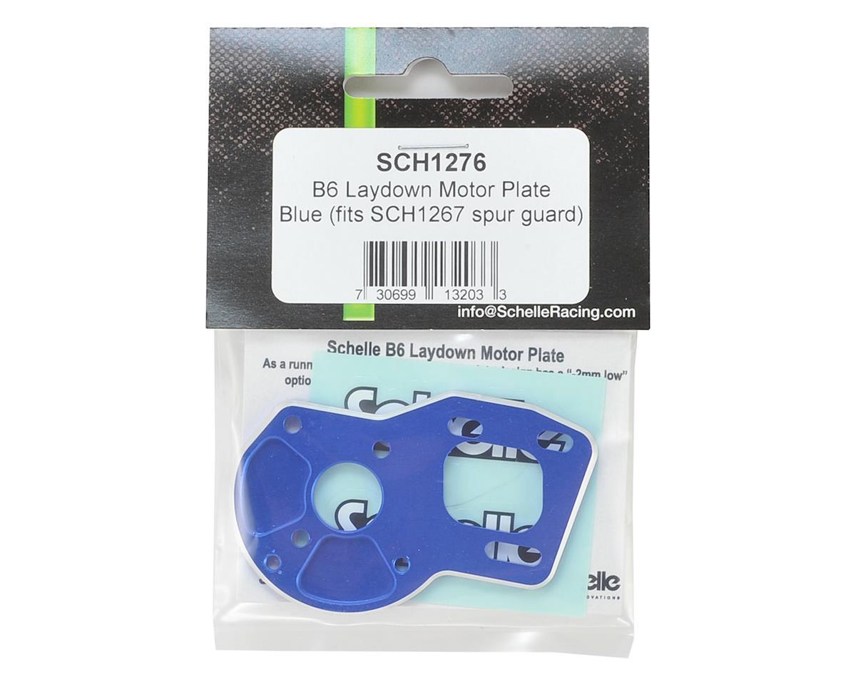 Schelle Racing B6/B6D Laydown Motor Plate (Blue)