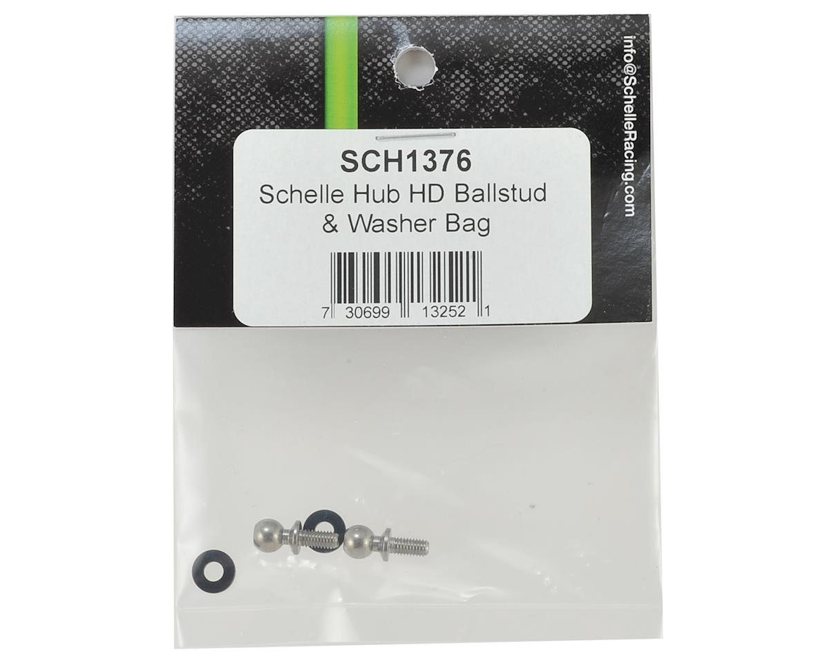 Schelle Racing B6/B64 Heavy Duty Ballstud & Washer (2)