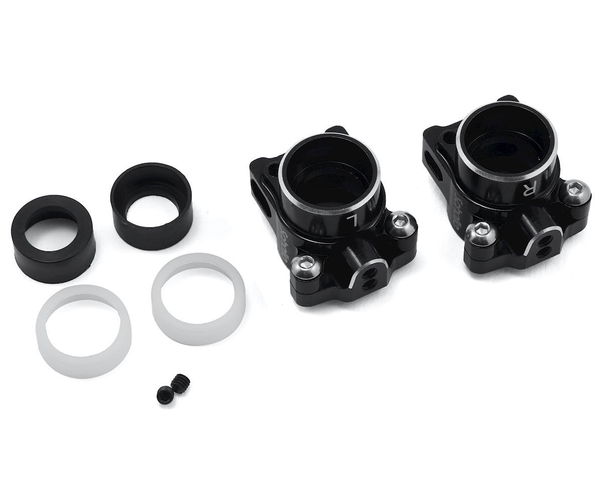Schelle Racing B6.1 Aluminum Hub Set (Black) (for 67mm Driveshaft)