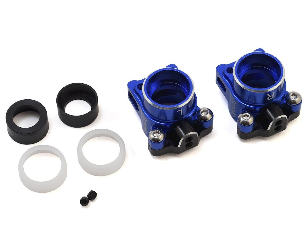 Schelle Racing B6.1 Aluminum Hub Set (Blue) (for 67mm Driveshafts)