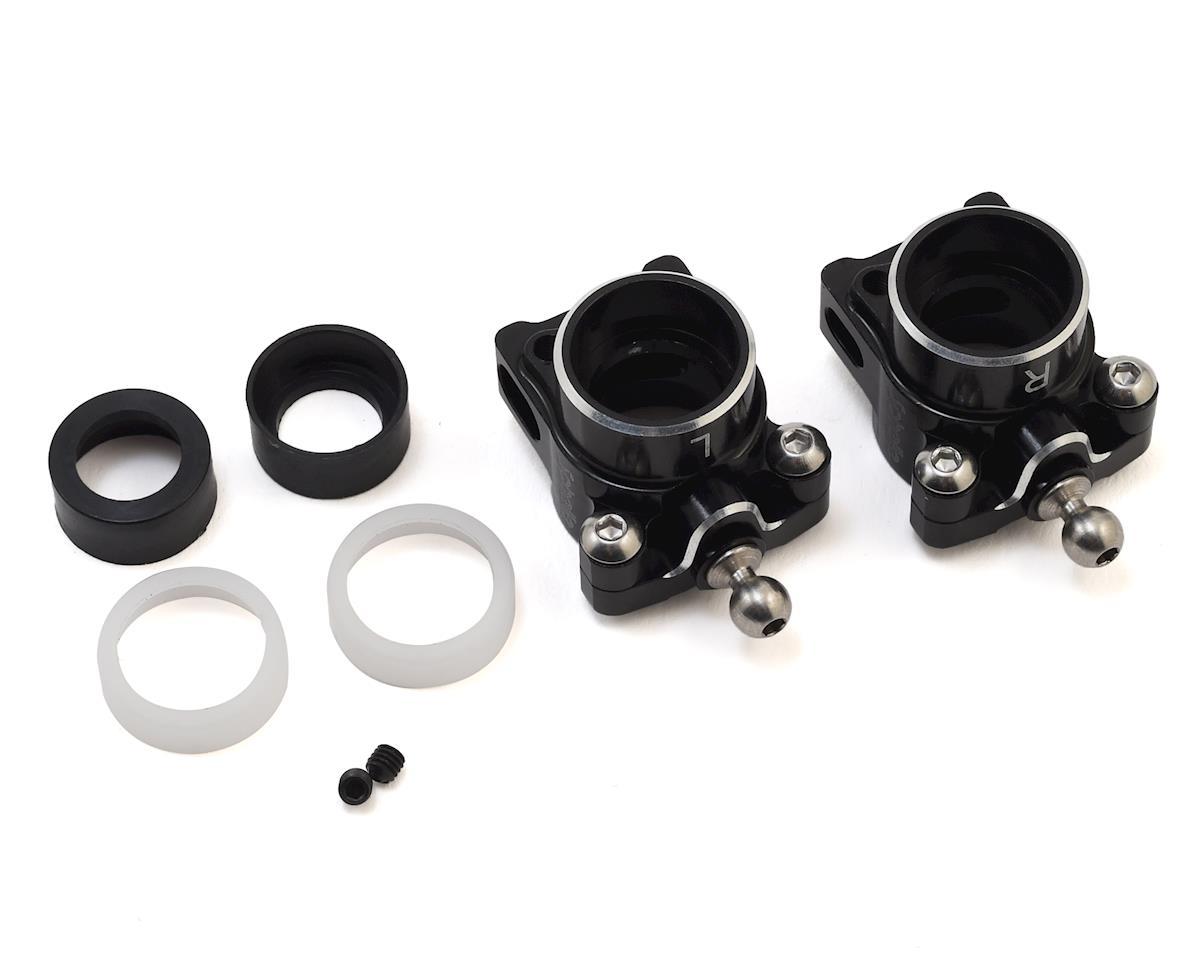 Schelle Racing B6.1 Aluminum Hub Set w/-2mm Carpet/Astro Cap (Black)