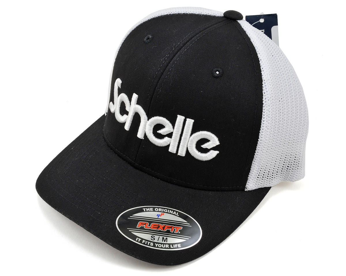 Schelle Racing 3-D Puff Fitted Trucker Hat (Black) (S/M)