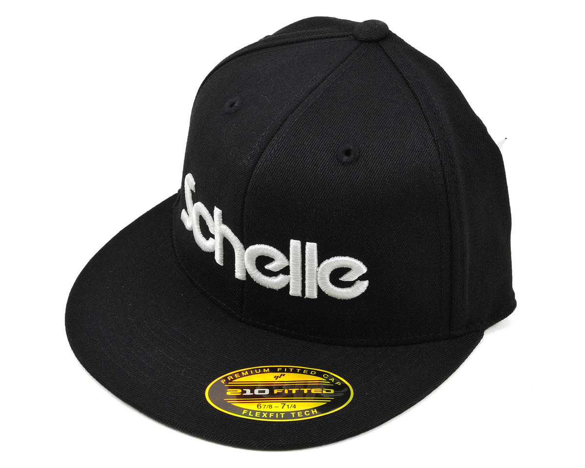 "Schelle Racing 3-D Puff ""Flatbill"" Hat (Black) (S/M)"