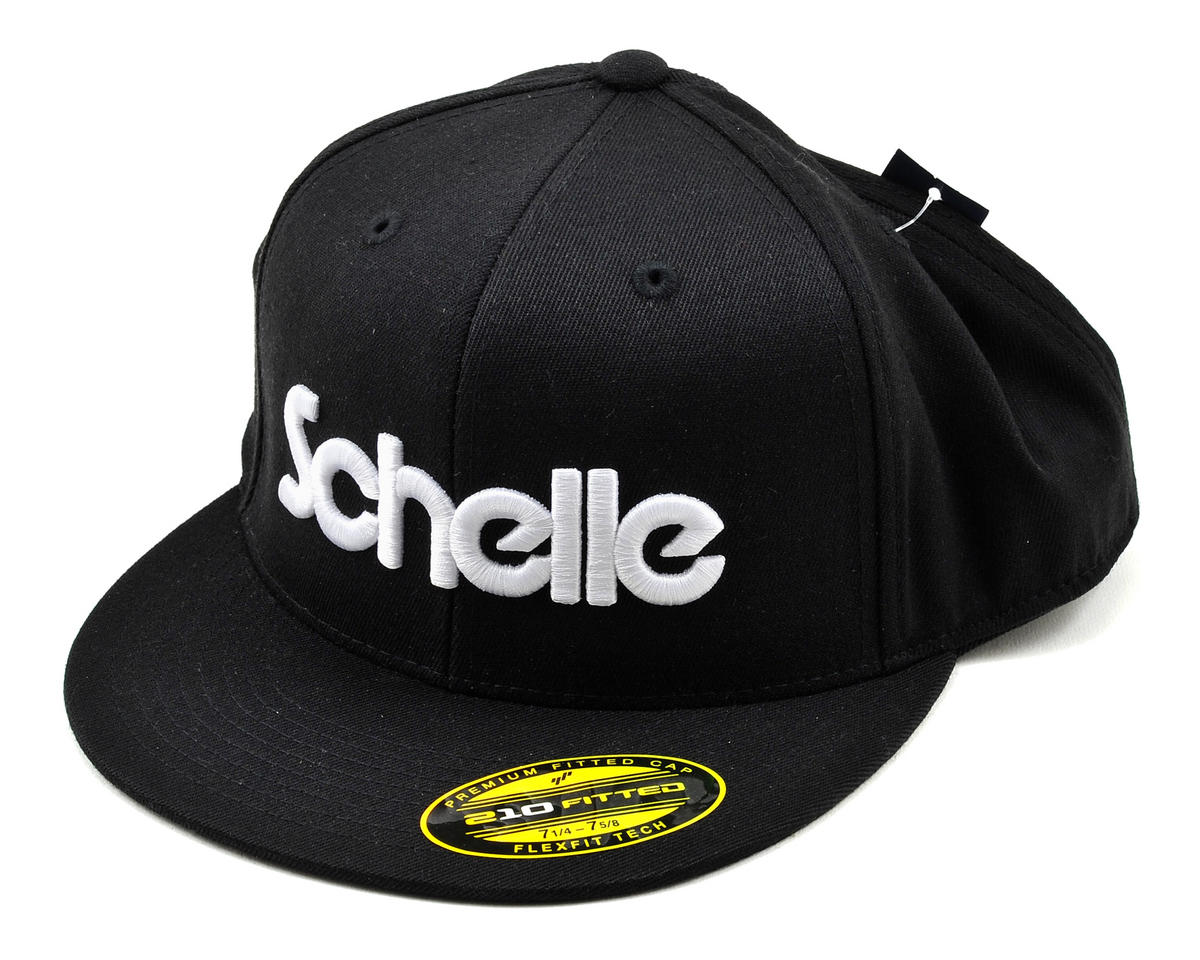 "Schelle Racing 3-D Puff ""Flatbill"" Hat (Black) (L/XL)"