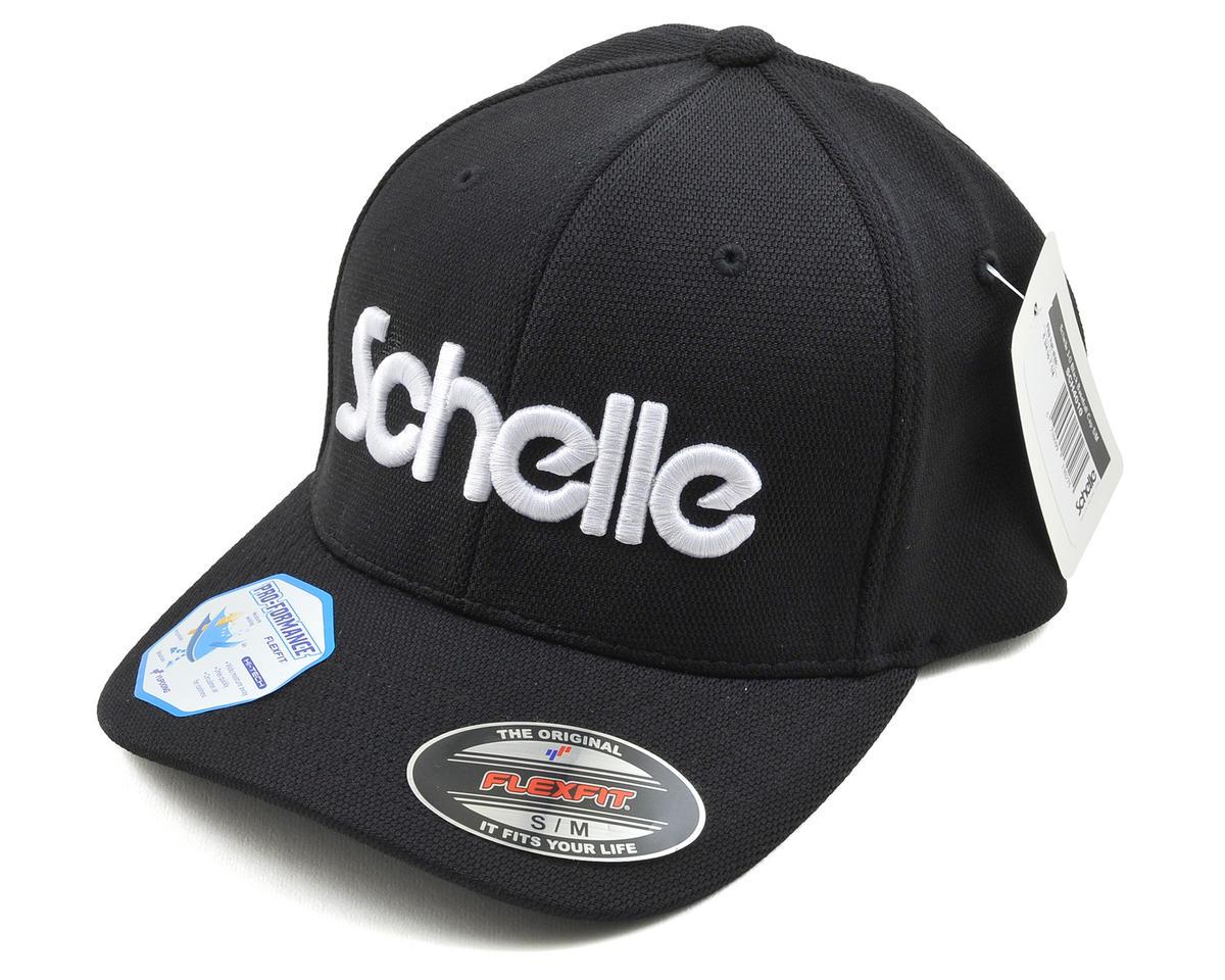 Schelle Racing 3-D Puff Flexfit Baseball Cap (Black) (S/M)