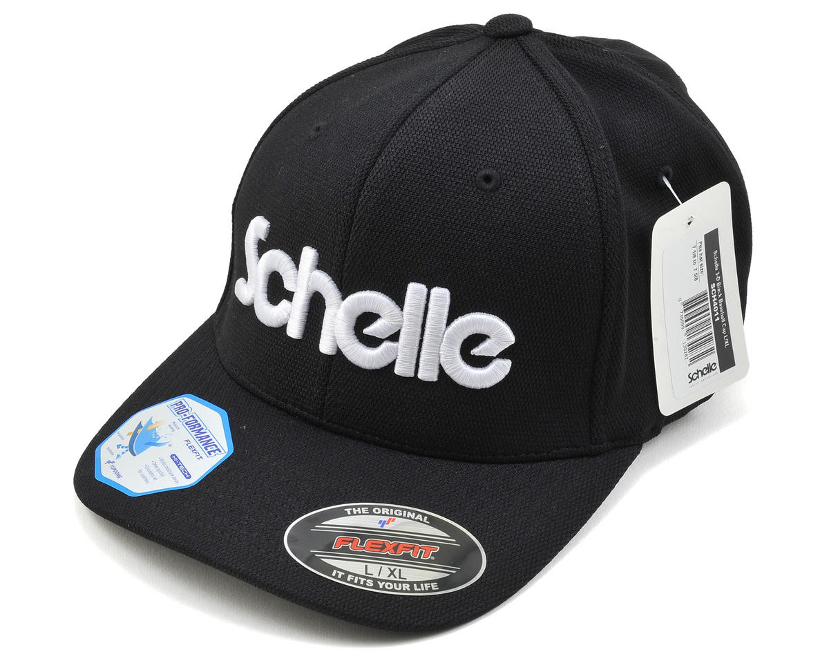Schelle Racing 3-D Puff Flexfit Baseball Cap (Black) (L/XL)