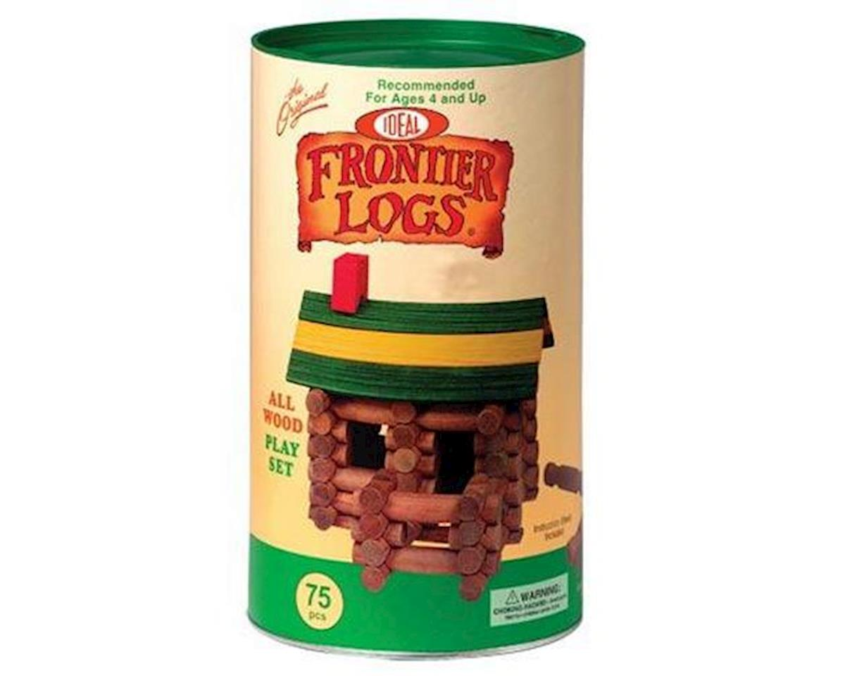 Poof Slinky 075L 75Pc Frontier Logs Bldng St.in Canister by Slinky Science