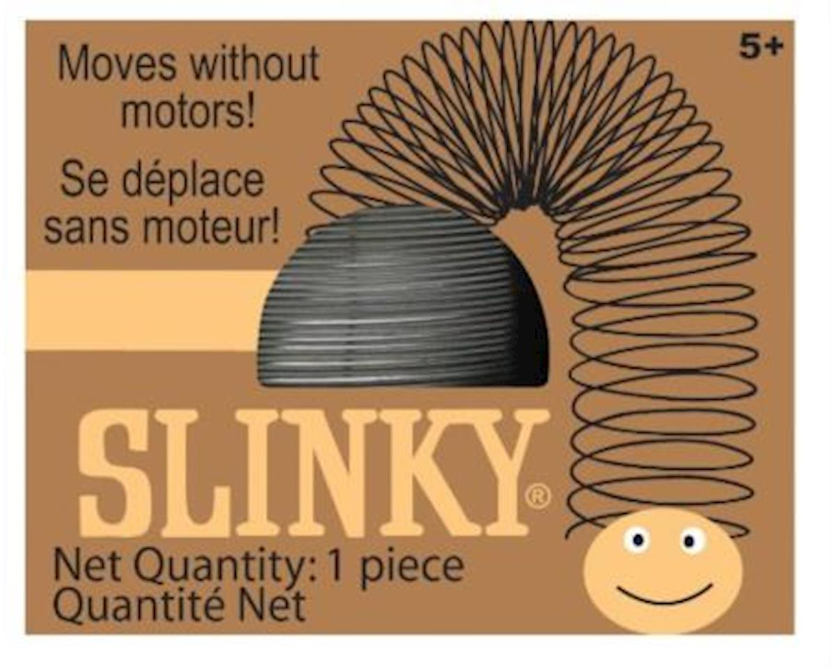 Slinky Science Slinky 109BL Metal Original Slinky in Collectible Black Retro Box, Silver