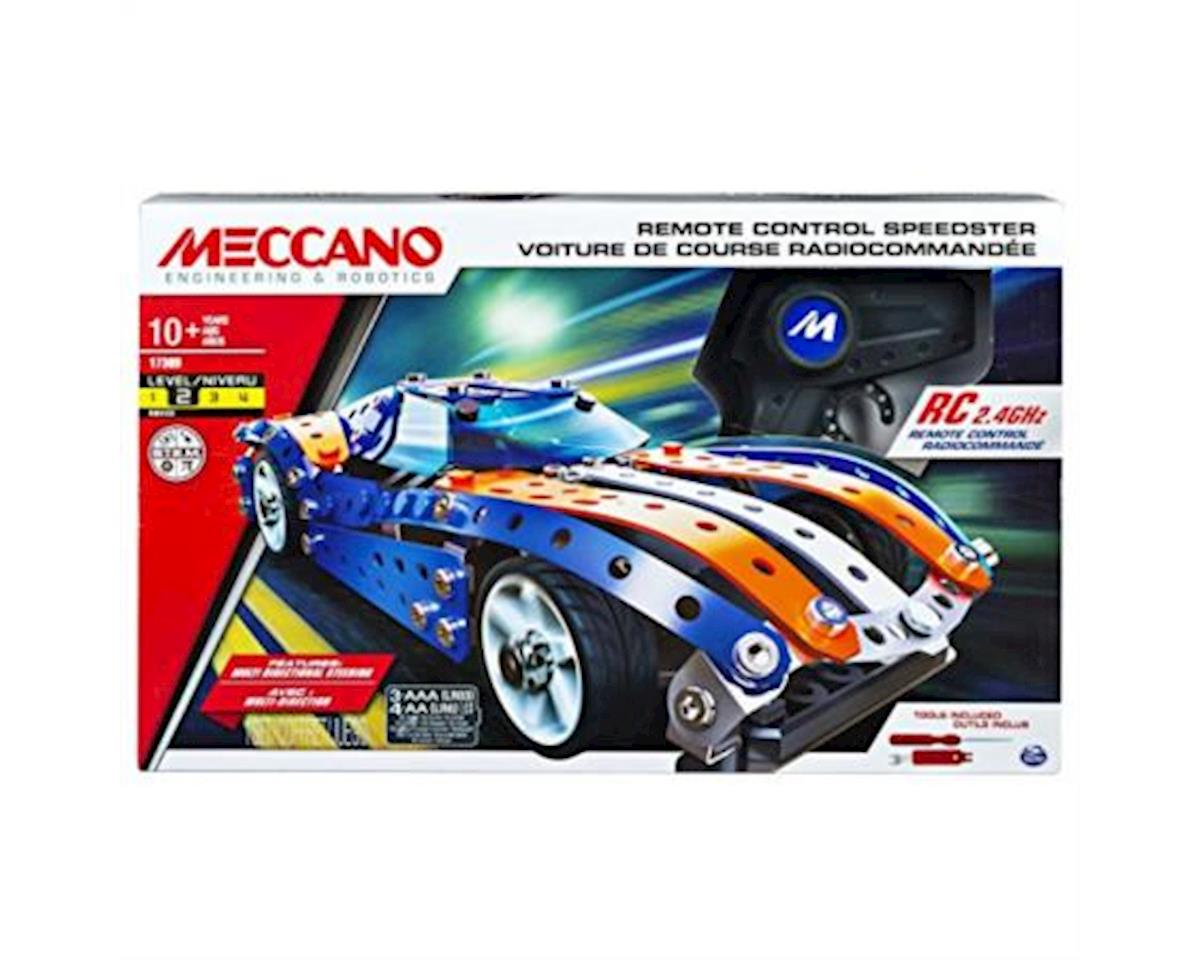 Meccano Remote Control Speedster Model Vehicle Building Set, with 2.4GHz