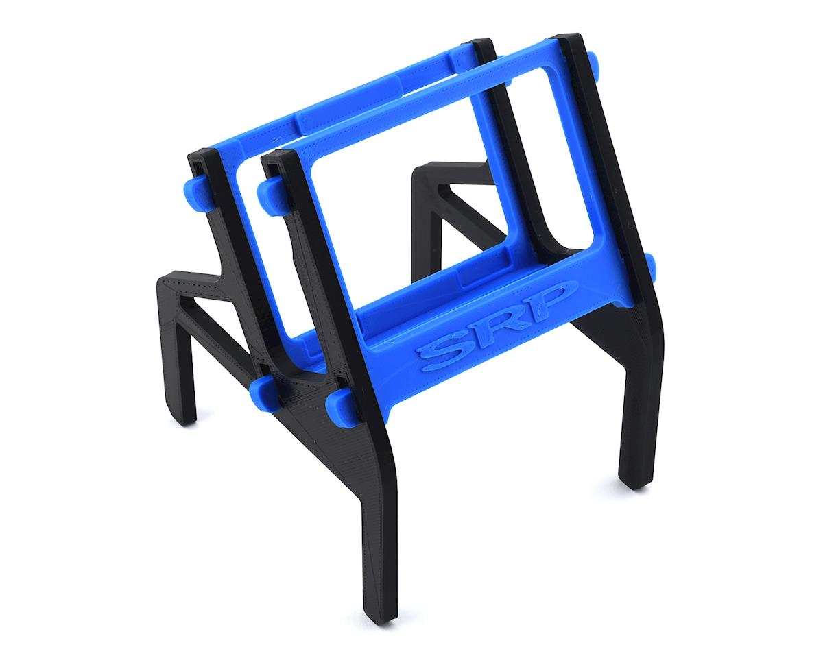 Schaffner Racing Products Junsi X6 Printed 4 Piece Charger Stand (Black/Blue)