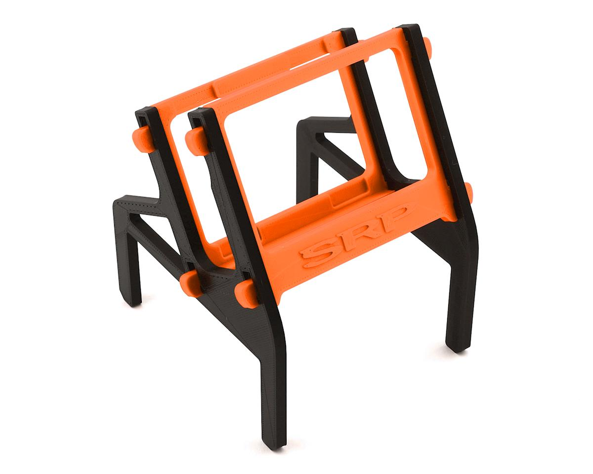 Schaffner Racing Products Junsi X6 Printed 4 Piece Charger Stand (Black/Orange)