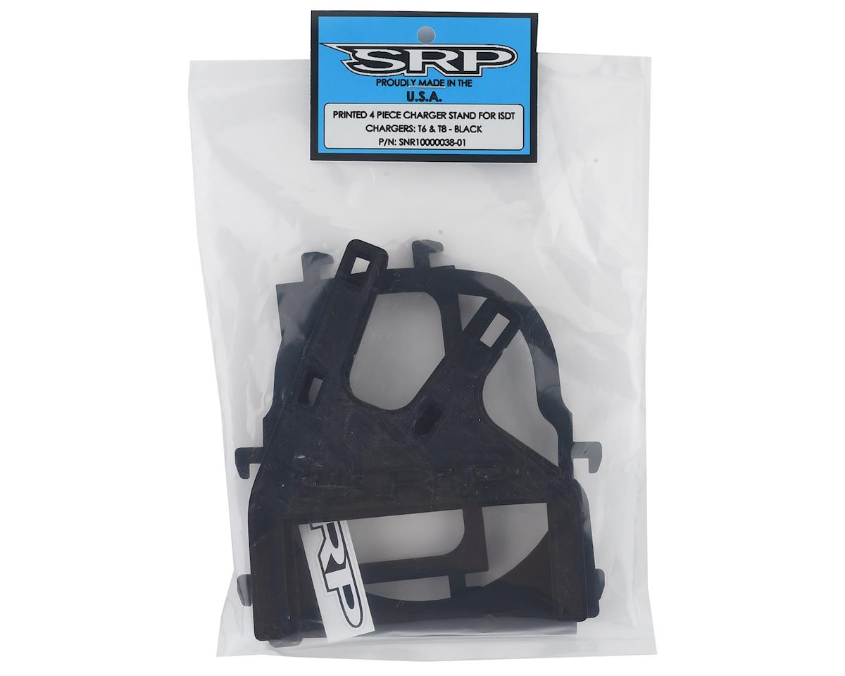Schaffner Racing Products ISDT T6/T8 Printed 4 Piece Charger Stand (Black)