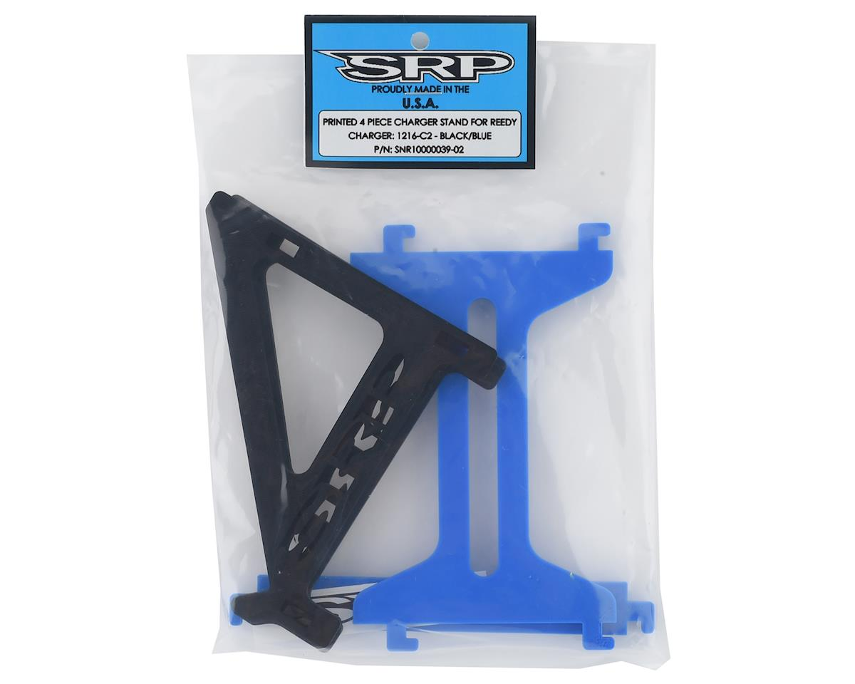 Schaffner Racing Products Reedy 1216 C2 4 Piece Charger Stand (Black/Blue)