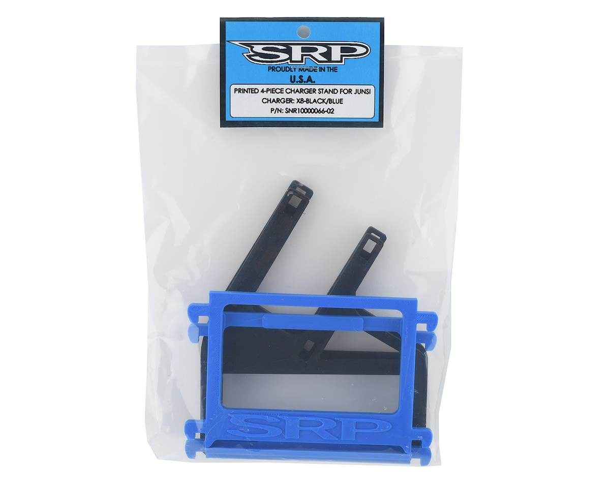 Schaffner Racing Products Junsi X8 Printed 4 Piece Charger Stand (Black/Blue)